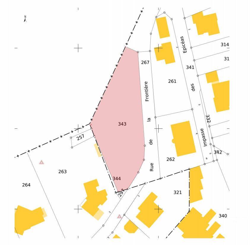 Plan de parcelles projet Alsting